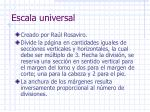 escala universal