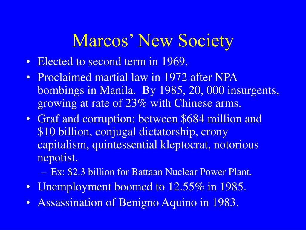 Marcos' New Society
