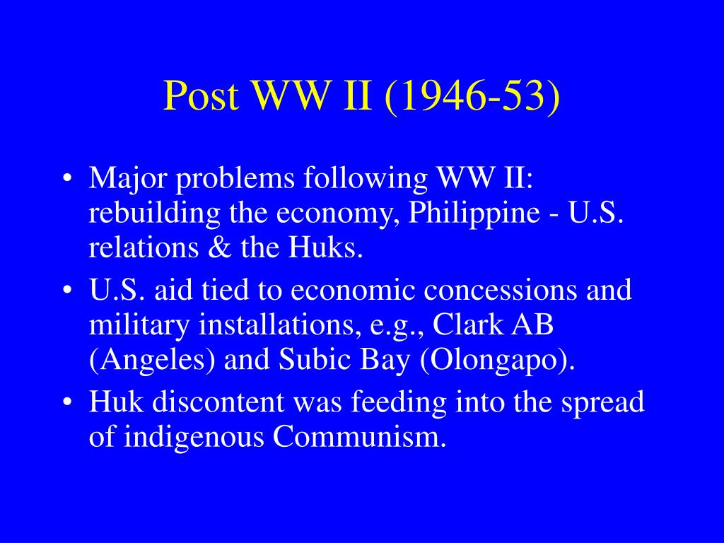 Post WW II (1946-53)