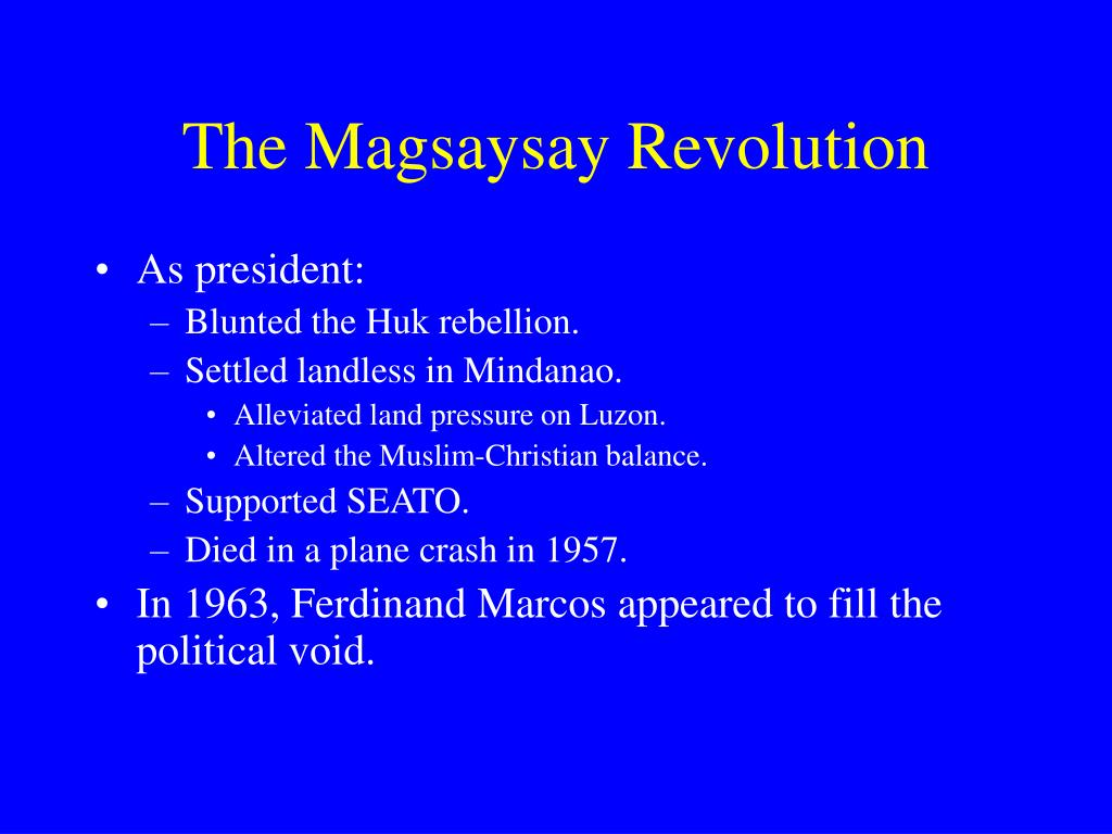 The Magsaysay Revolution