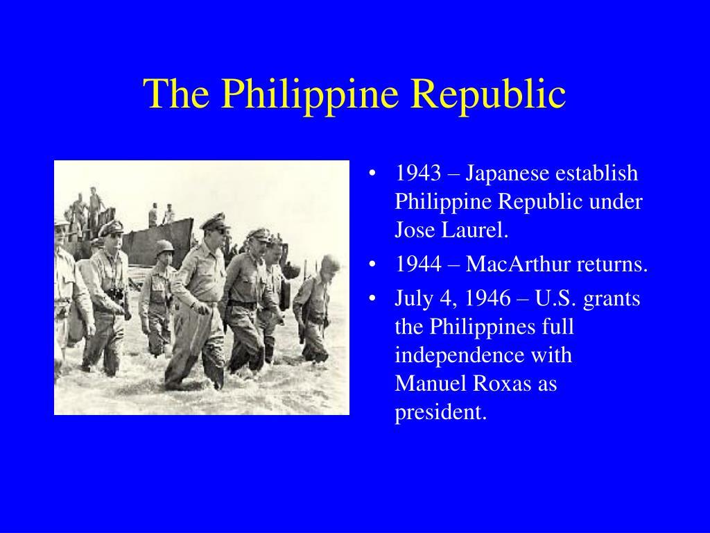 The Philippine Republic
