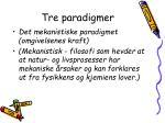 tre paradigmer