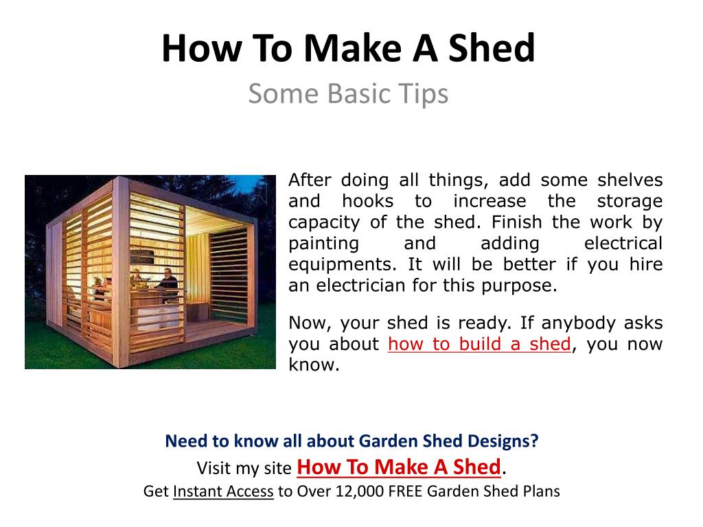 How To Make A Shed
