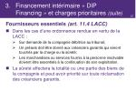3 financement int rimaire dip financing et charges prioritaires suite5