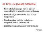 az 1795 vi javaslat rt kel se