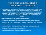 teoria de la inteligencia emocional goleman