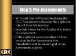 step 2 pre assessments