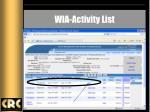 wia activity list