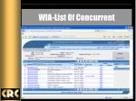 wia list of concurrent
