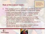 role of the liaison cont