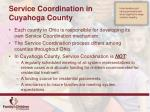service coordination in cuyahoga county