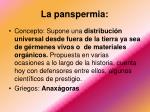 la panspermia