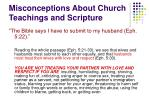 misconceptions about church teachings and scripture1