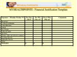 myhealthpointe financial justification template