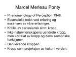 marcel merleau ponty