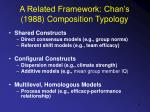 a related framework chan s 1988 composition typology