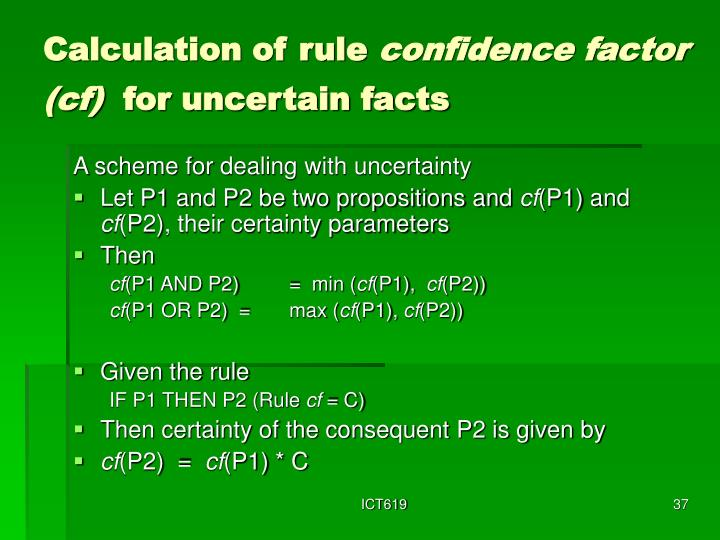 Calculation of rule