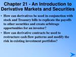 chapter 21 an introduction to derivative markets and securities3
