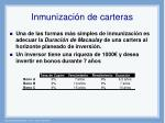 inmunizaci n de carteras