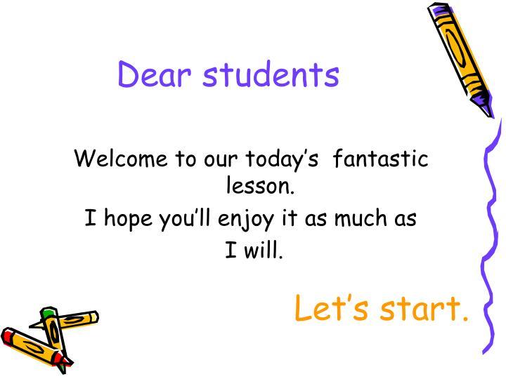 dear students n.