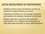 active recruitment of participants