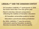 libqual and the canadian context