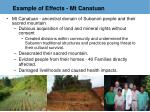 example of effects mt canatuan