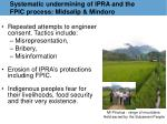 systematic undermining of ipra and the fpic process midsalip mindoro