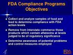 fda compliance programs objectives