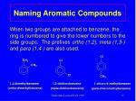naming aromatic compounds1