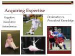 acquiring expertise