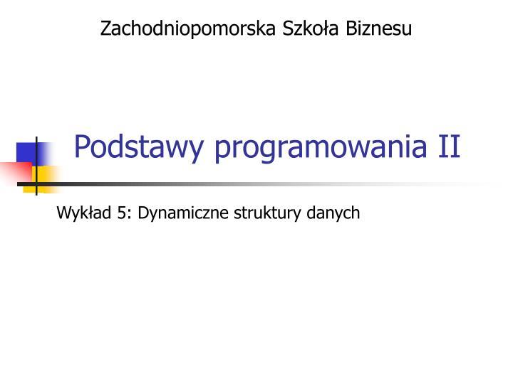 podstawy programowania ii n.
