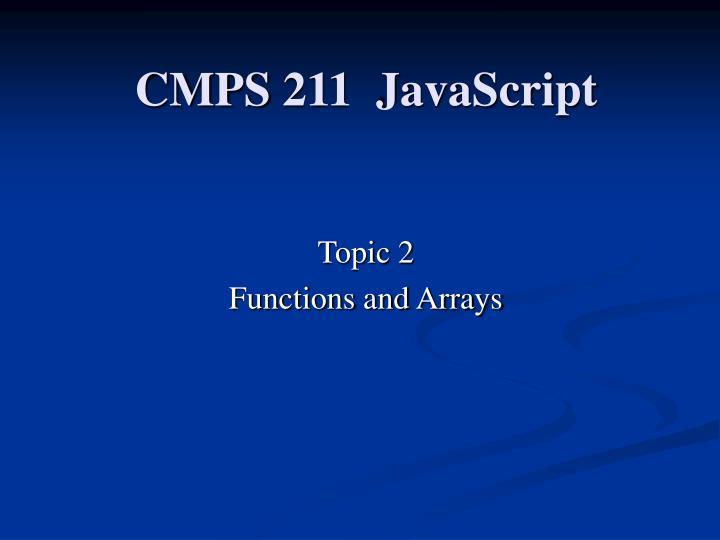 cmps 211 javascript n.