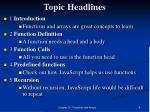 topic headlines