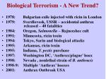 biological terrorism a new trend