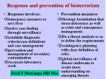 response and prevention of bioterrorism