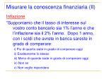 misurare la conoscenza finanziaria ii