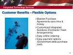 customer benefits flexible options