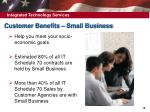 customer benefits small business