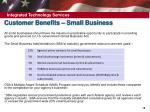customer benefits small business1