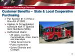 customer benefits state local cooperative purchasing