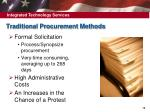 traditional procurement methods
