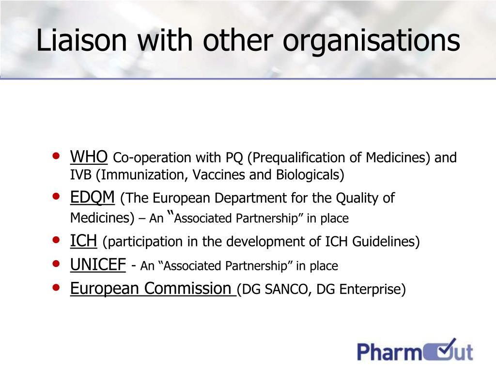 Liaison with other organisations