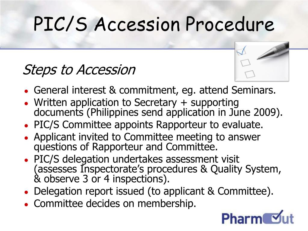 PIC/S Accession Procedure