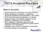 pic s accession procedure