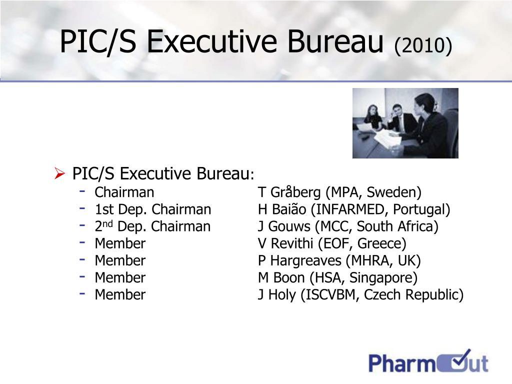 PIC/S Executive Bureau