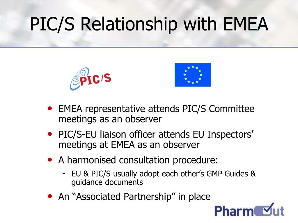 PIC/S Relationship with EMEA