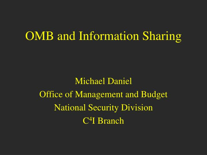 omb and information sharing n.