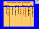 planificaci n lineal quincenal subsector nivel nb b sico fecha 2005