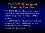 the cobweb conceptual clustering algorithm